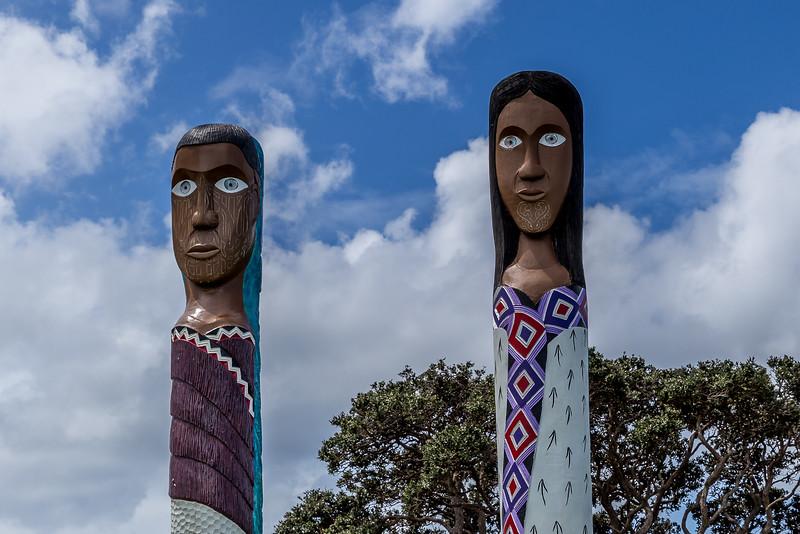 Maori-Kunst Vorderseite