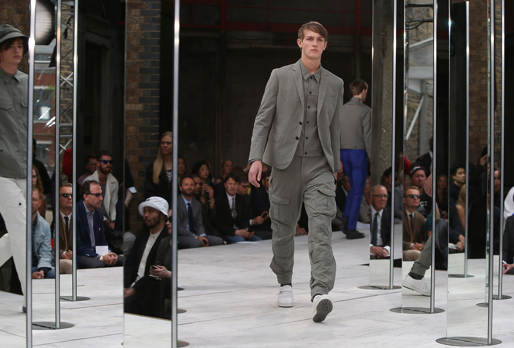 . Models wear creations by designer Rag & Bone during London Men\'s spring summer fashion collections 2014, in London, Monday, June 17, 2013. (Photo by Joel Ryan/Invision/AP)