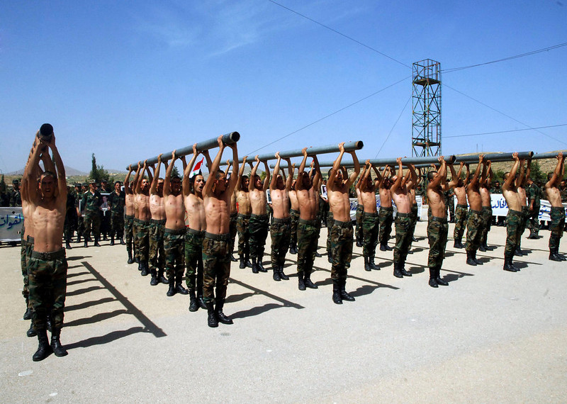. Forces loyal to Syria\'s President Bashar al-Assad commemorate the 67th anniversary of independence to mark the day French colonialists left in 1946, at an undisclosed location, in this handout photograph distributed by Syria\'s national news agency SANA on April 17, 2013. REUTERS/SANA/Handout