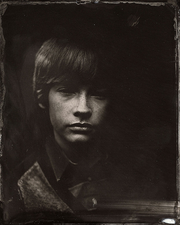 . Jacob Lofland poses for a tintype (wet collodion) portrait at The Collective and Gibson Lounge Powered by CEG, during the 2014 Sundance Film Festival in Park City, Utah. (Photo by Victoria Will/Invision/AP)