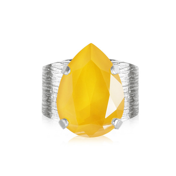 Classic Drop Ring / Buttercup Rhodium