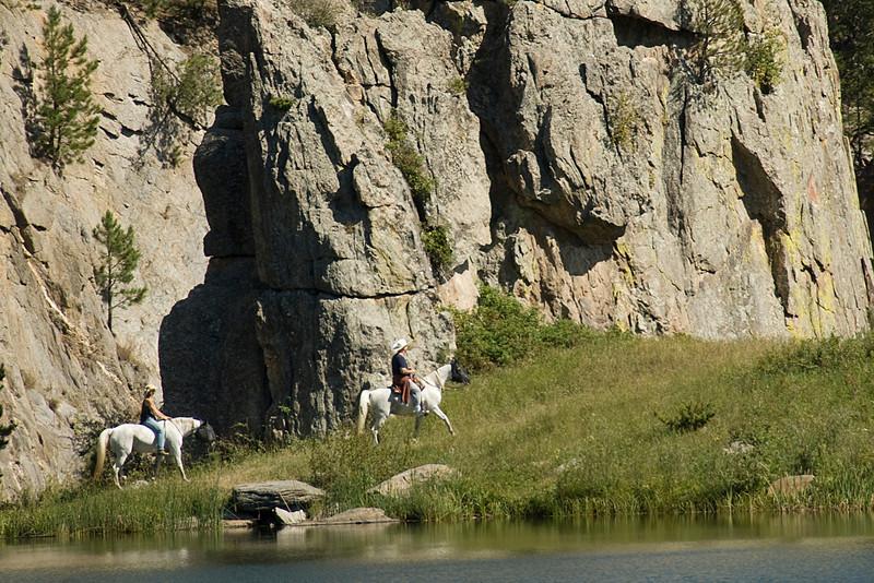 Horse back riders in Black Hills, South Dakota