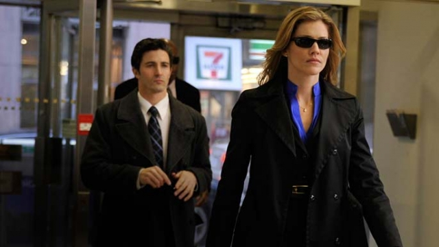 . Tricia Helfer of Battlestar Galactica as an FBI agent in episode 102, Resonance. SyFy