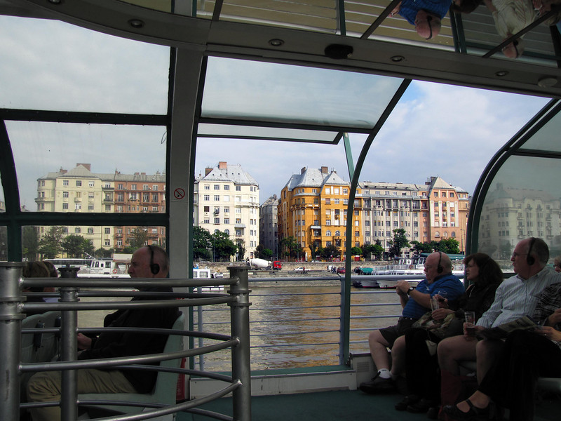 28-Pest, east bank of the Danube, seen from the tour boat. Headphones offer a guided tour in any one of 20 languages.