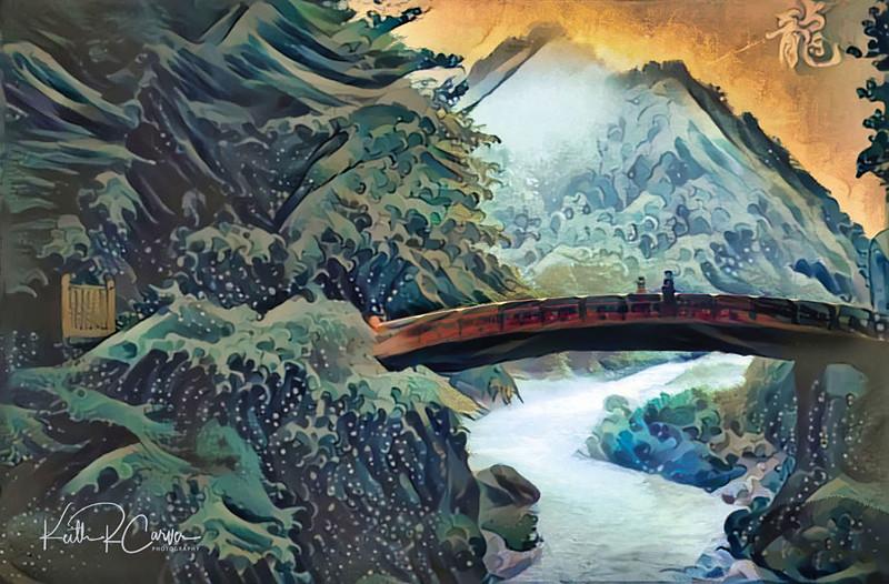 Shinkyo Bridge at Nikko, Japan