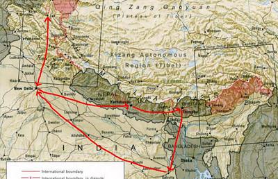 trip 2009 map