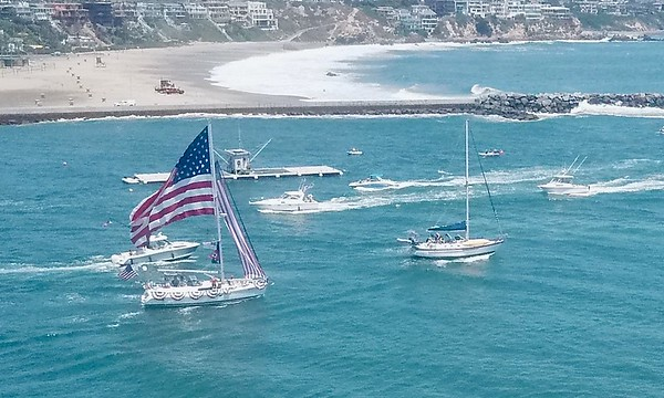 Newport Beach Aerial  Video of The Wedge Area July 4, 2020