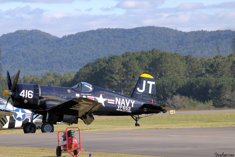 Chance Vought F4U-4 Corsair  s/n 9297    N713JT Rome GA 10/13/2018 This work is licensed under a Creative Commons Attribution- NonCommercial 4.0 International License.