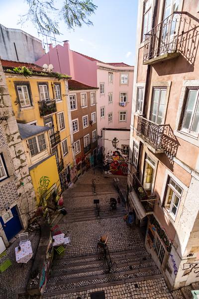 Escadinhas de São Cristóvão alley in Lisbon