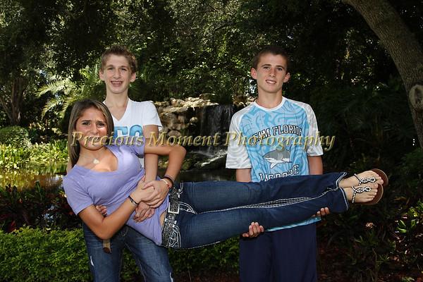 Packer Triplets B'Nai Mitzvah - Pre Shots