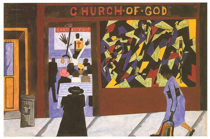 "Jacob Lawrence, ""There are Many Churches in Harlem"" (1943)"