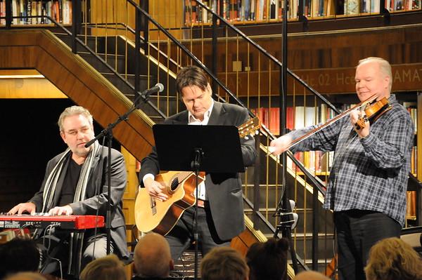 Peter Collin och Fredmans Testamente på Stadsbiblioteket den 19 januari 2016