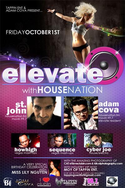 Tappin Entertainment & Adam Cova presents ELEVATE @ B4TWELVE Lounge 10.1.10
