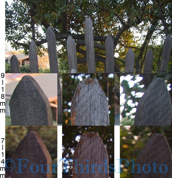 9-18mm vs 7-14mm Fence test