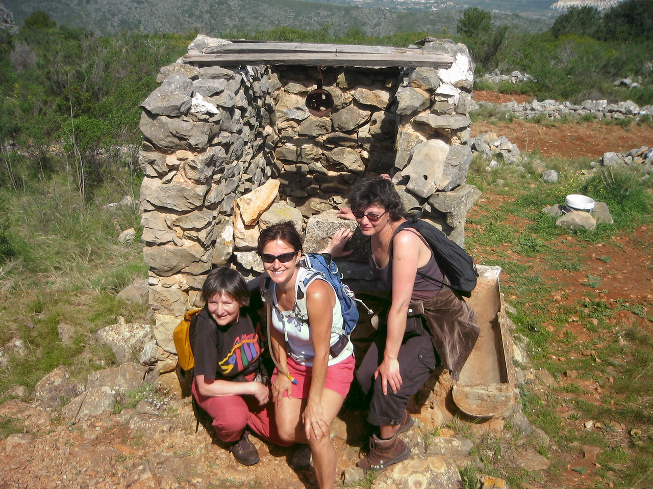 Ellen, Charlotte and Selma near the Barranc del Cau