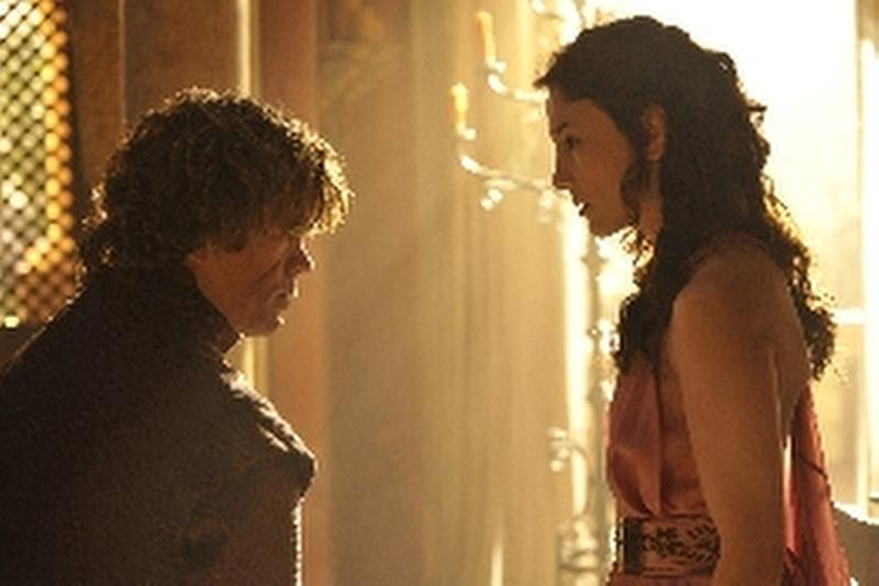 . Game of Thrones, Season 4: Peter Dinklage and Sibel Kekilli. (Photo by Neil Davidson/HBO)