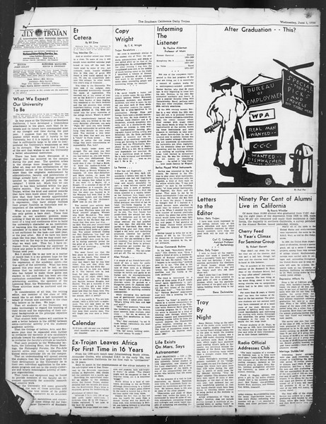 Daily Trojan, Vol. 29, No. 148, June 01, 1938