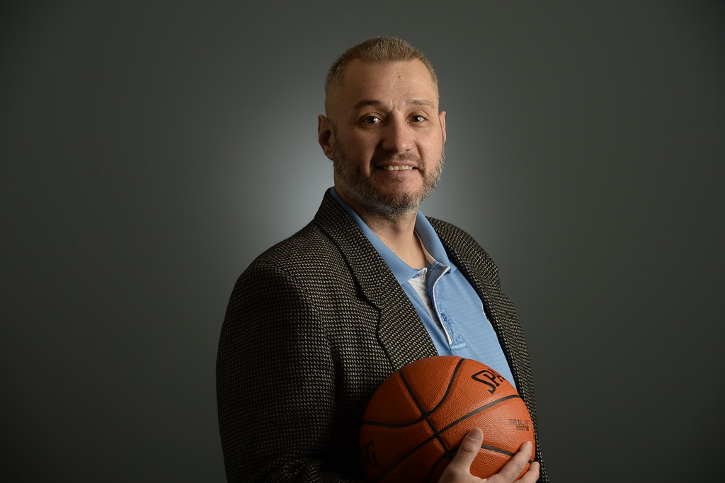 . The  Colorado All-State basketball teams for boys and girls at The Denver Post on Wednesday, March 30, 2016. Boys coach of the year Bobby Tyler of Pueblo West High School.  (Photo by Cyrus McCrimmon/ The Denver Post)