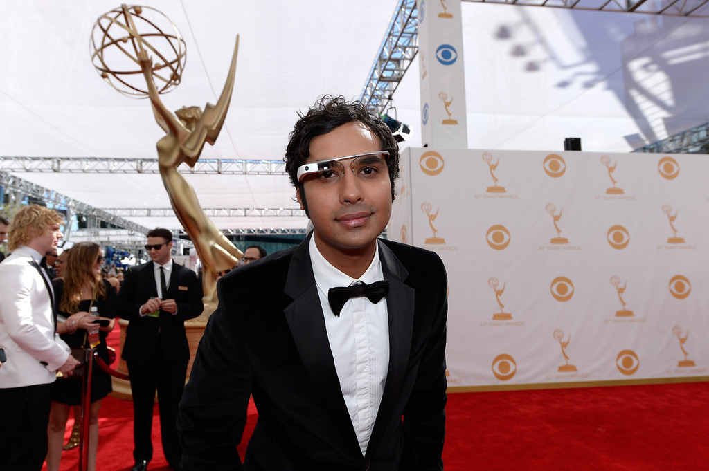 . Actor Kunal Nayyar arrives at the 65th Annual Primetime Emmy Awards held at Nokia Theatre L.A. Live on September 22, 2013 in Los Angeles, California.  (Photo by Kevork Djansezian/Getty Images)