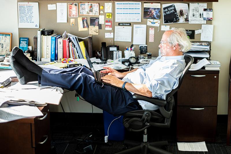 Juan at his office