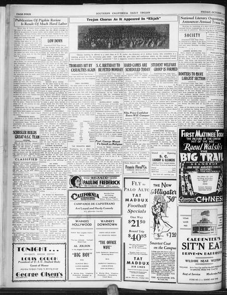 Daily Trojan, Vol. 22, No. 16, October 03, 1930