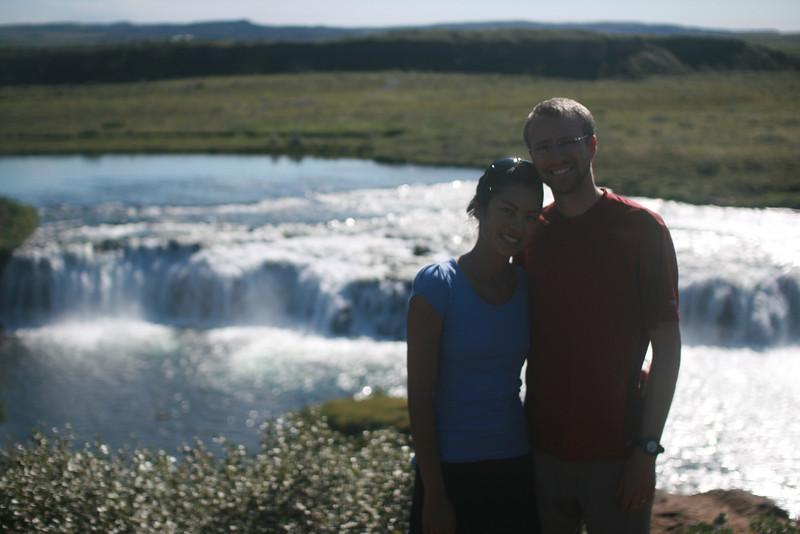 Jayna & Shane at Faxi waterfall.