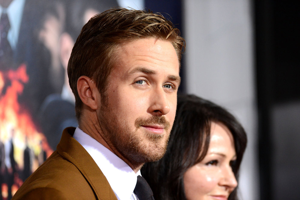 """. Actor Ryan Gosling arrives at Warner Bros. Pictures\' \""""Gangster Squad\"""" premiere at Grauman\'s Chinese Theatre on January 7, 2013 in Hollywood, California.  (Photo by Jason Merritt/Getty Images)"""