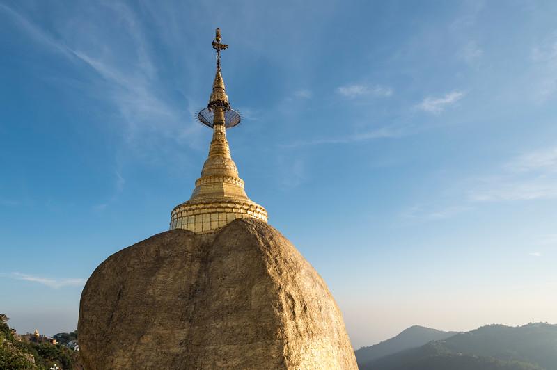 Golden Rock Pagoda on Mt. Kyaiktiyo, Burma, Myanmar