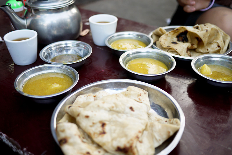 Indian chapati and dhal in Mandalay.