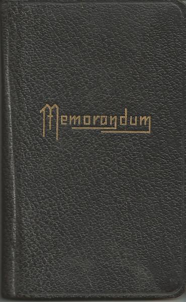 Louis Sellet's Memorandum Book