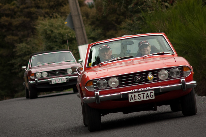Members of the Triumph Owners Club New Zealand