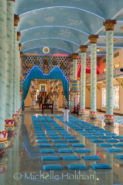 Cao Dai Temple of Da Lat, Dalat, Vietnam