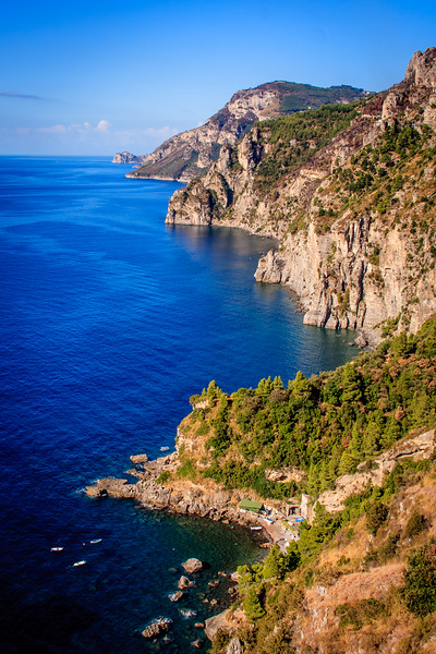The rugged Amalfi Coast