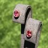 .79ctw Oval Padparadscha Sapphire Bezel Stud Earrings 18