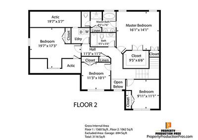 Black n White Flat Floor Plans