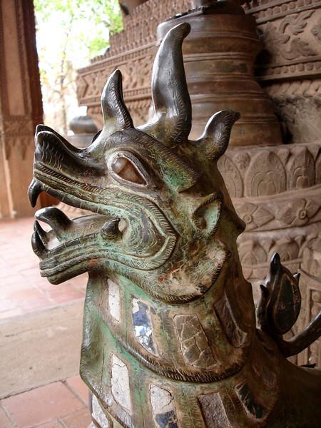 temple guardian, Vientiane, Laos