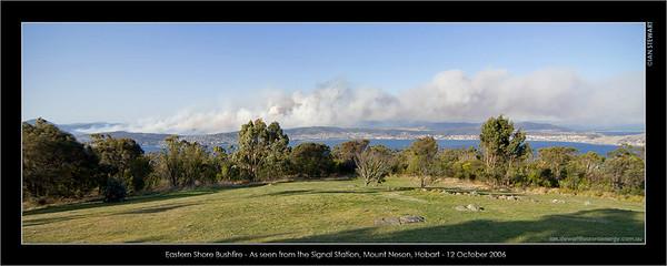 Hobart Bushfires 12.10.2006