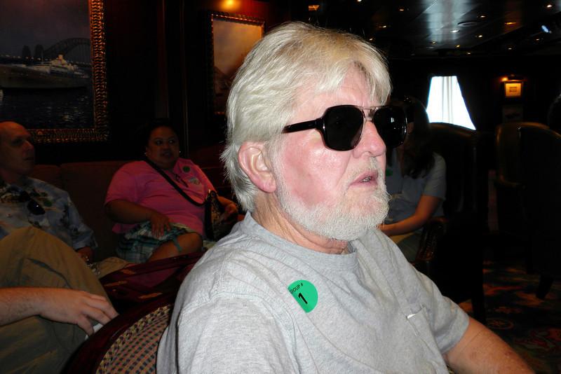 November 16, 2009 - Frank waits for the start of the tour on Princess Cays, Eleuthera Island, Bahama