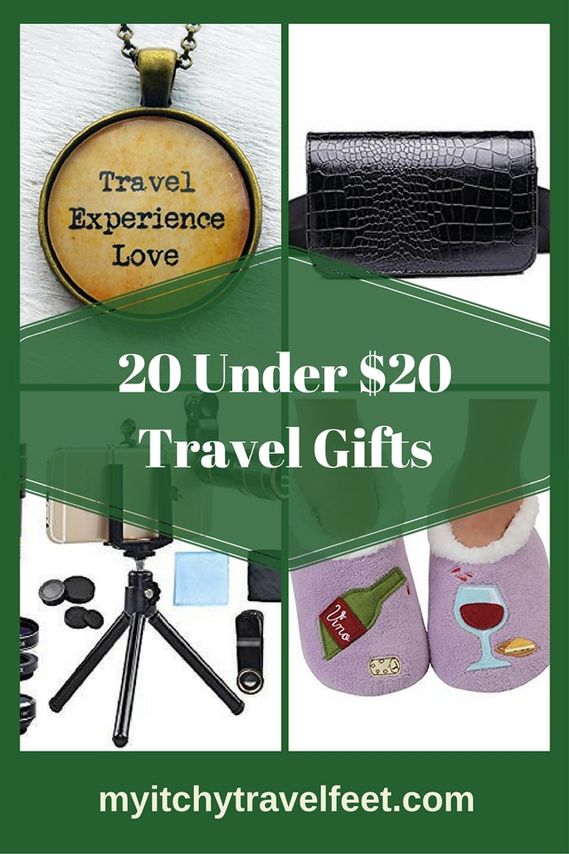 Twenty budget gifts for the boomer traveler on your holiday gift list. #shopping #giftguide #gifts