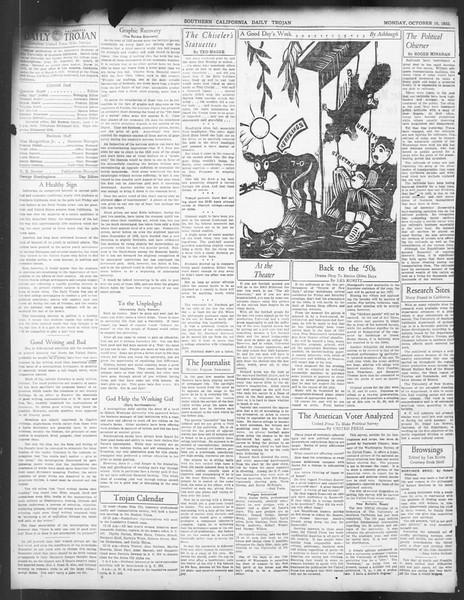 Daily Trojan, Vol. 24, No. 22, October 10, 1932