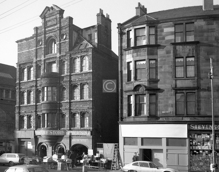 Bain St, west side at the Gallowgate.    November 1973