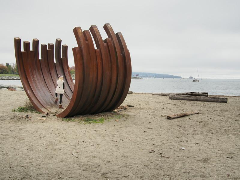Oct. 19/13 - Art installation on Sunset Beach Park (Title:  217.5 Arc x13')