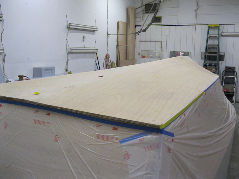 Rear view of bottom ready for epoxy.