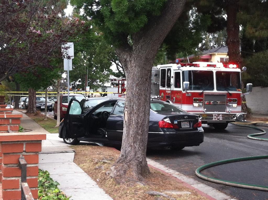 . Scene from Santa Monica College shooting. Steve McCrank/Daily Breeze