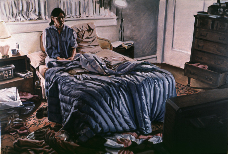 Audience;  oil on canvas, 54 x 80 in, 1989