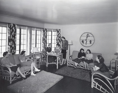 Montgomery Hall Parlor in 1938 after the Interior Remodel