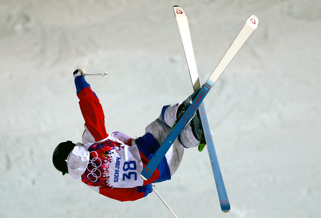 . Aleksey Pavlenko of Russia in action during  the Freestyle Skiing Men\'s Moguls Qualification 1 at the Sochi 2014 Olympic Games, Krasnaya Polyana, Russia, 10 February 2014.  EPA/JENS BUETTNER