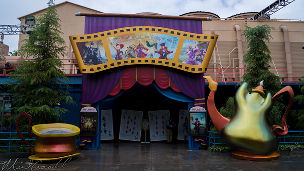 Disneyland Resort, Disney California Adventure, Hollywood Land, Sunset, Showcase, Theater, Alice, Through, Looking, Glass, Preview