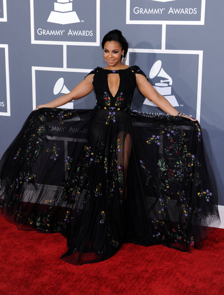. Ashanti arrives to  the 55th Annual Grammy Awards at Staples Center  in Los Angeles, California on February 10, 2013. ( Michael Owen Baker, staff photographer)