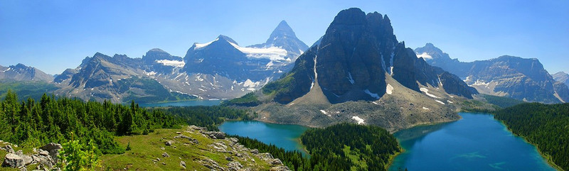 Mount Assiniboine Panorama-1   Mount Assiniboine Provincial Park - Canadian Rockies, British Columbia.
